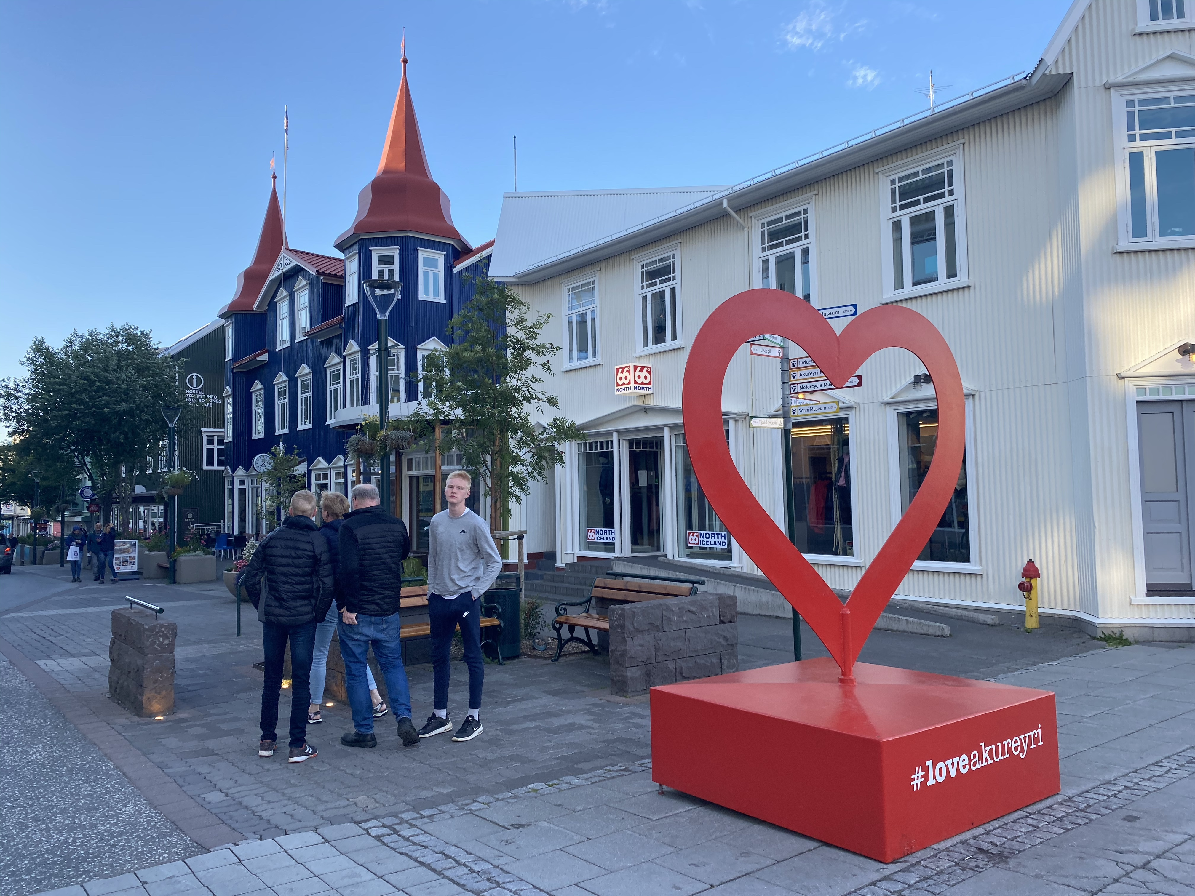 La città di Akureyri in Islanda