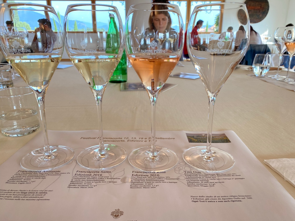 Degustazione di vino in Franciacorta
