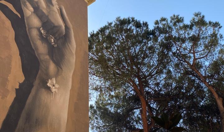 Murales di Luis Gomes a Garbatella
